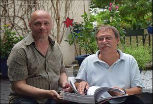 ERSTER SCHRITT ERFOLGREICH GETAN: Frank Braun (links) und Matthias Wietzer zufrieden mit dem Ergebnis